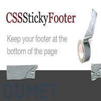 Cara Membuat Sticky Footer dengan HTML dan CSS