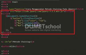 Cara Menggunakan Metode Chaining Pada jQuery