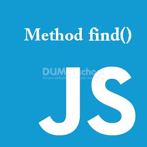 Cara Menggunakan Method Find pada Javascript