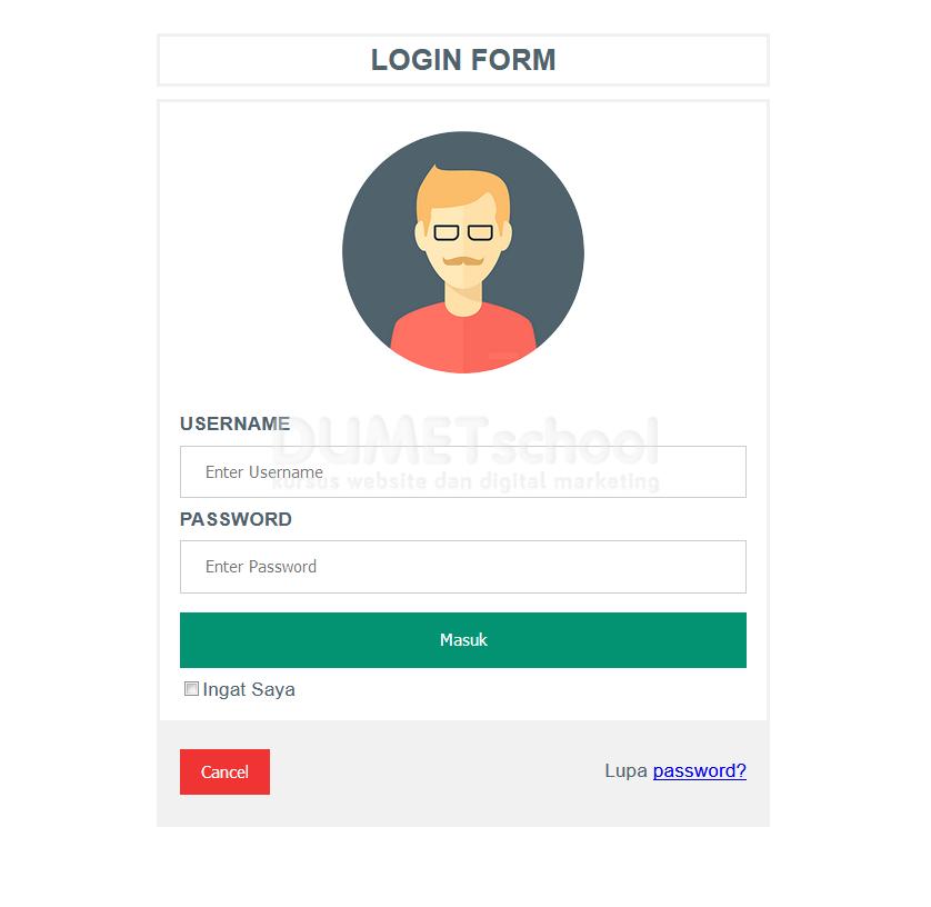 Membuat Desain Form Login Menarik dengan CSS - Kursus