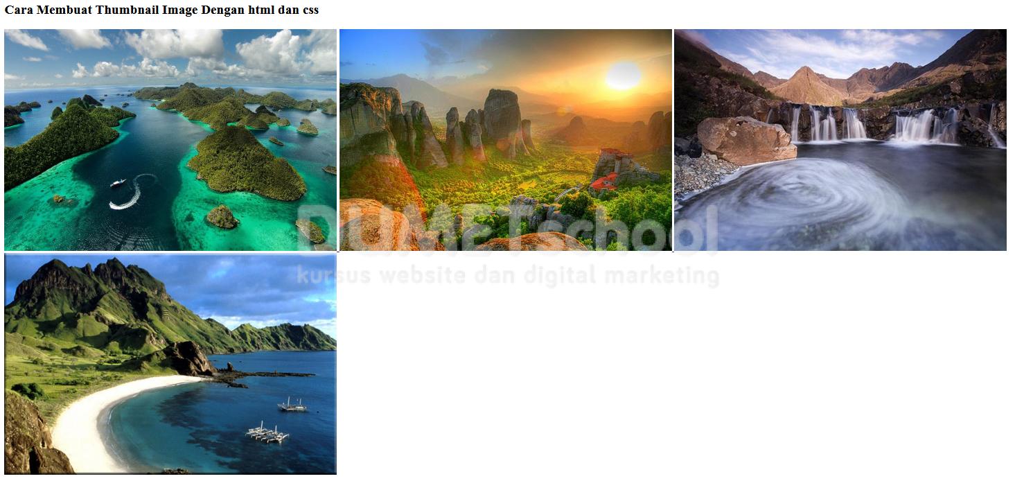 Cara Membuat Thumbnail Image Dengan html dan css - Kursus