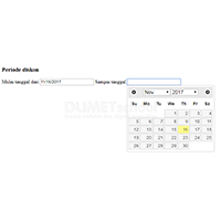 Membuat Date Picker Range jQuery UI