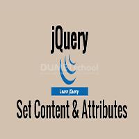 Cara Set Content dan Attributes pada JQuery