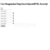 Cara Menggunakan Fungsi insertAdjacentHTML Javascript