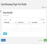 Cara Memasang Plugin Form Bulder jQuery