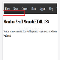 Cara Membuat menu Scroll Horizontal