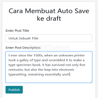 Cara Membuat Auto Save ke draft