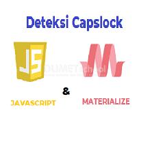 Cara Mendeteksi Capslock Dengan Javascript dan Materialize