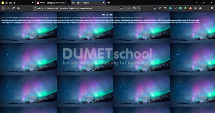 background website fullscreen